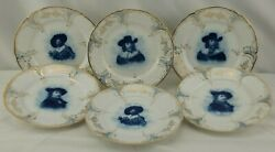 Rc Rosenthal Continental Versailles Portrait From Rembrandt Bread Plates Set 6