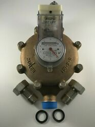 Carlon Jsj 100 1andrdquox1andrdquo Electric Contacting Water Meter W/fittings New