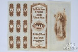 Fourth Liberty Loan 4 1/4 Gold Bond Of 1933-1938 50 Replacement Bond 20810