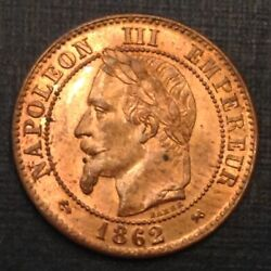 - France 1862 K Napoleon Iii Two 2 Deux Centimes Choice Uncirculated Unc