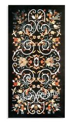 Marble Restaurant Table Top With Mosaic Art Dining Table Hand Made From India