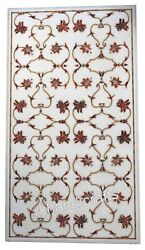 Carnelian Stone Inlay Royal Work Kitchen Table Top Marble Dining Table For Home
