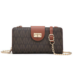 Women#x27;s Crossbody Bags Monogram logo Messenger Purse Wallet with Card Slots $22.99