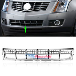 Front Bumper Grill Lower Grille Cover For Cadillac Srx 2013-2015 Chrome Abs