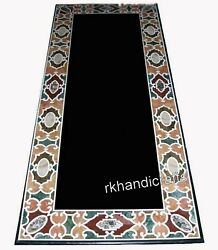 Antique Work Dining Table Top Multi Stones Art Marble Living Room Table For Home