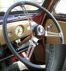 For Wolseley 6/99 1959 - 1968 Black Real Italian Leather Steering Wheel Cover