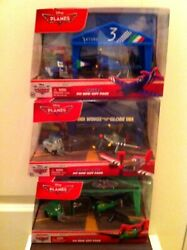 Disney Planes Pit Row Gift Pack Arturo, Ripslinger, And Judge Davis Die-cast New