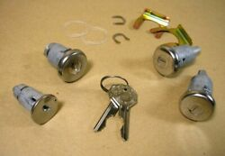 1961 1964 Pontiac Fullsize And Grand Prix Ignition Door And Trunk Lock Kit, Cl281