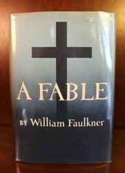 William Faulkner A Fable First Edition 1st Printing 1954 Dj Pulitzer Prize