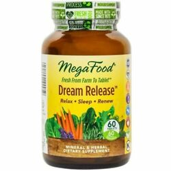 Megafood Dream Release - 60 Tablets   Promotes Relaxation   Help Release Tension