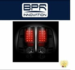 Recon Smoked Led Tail Lights For 2013-2016 Dodge Ram - 264236bk