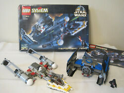 Star Wars Lego 7150 Tie Fighter Y-wing Complete W Box, Instructions, 3 Mini Figs