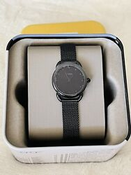 NWT Fossil Women#x27;s Tailor Black Stainless Steel Mesh Bracelet Watch 26mm ES4489 $74.90