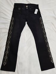 New Rrl Slim Bootcut Black Jeans Made In Usa
