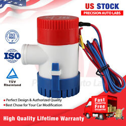 12v Marine Submersible Electric Boat Bilge Water Pump For Yacht Spa Pool 1100gph