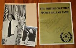 Vintage Bc Sports Hall Of Fame Program Signed Jesse Owens Fred Cyclone Taylor