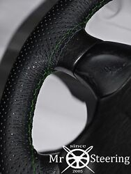 Perforated Leather Steering Wheel Cover For Volvo Vnl 780 Truck Green Double Stt