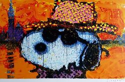 Tom Everhart A Guy In A Sharkskin Suit Snoopy Peanuts Hand Signed Shark Skin