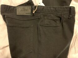 800 Brioni Black Cotton Comfort Fit Jeans Hand Made In Italy 38 Us