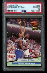 1992-93 Fleer Ultra Shaquille Oand039neal Rookie 328 Psa 10 Gem Mint Shaq Oneal Rc