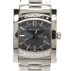 Bvlgari Assioma Quartz Stainless Steel Womenand039s Luxury Watch Aa39s Used