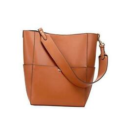 Hobo Bags for Women Genuine Leather Tote Purses and Handbags Shoulder Brown $87.73