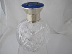 Quality Dressing Table Bottle Silver And Enamel Lid Import Hallmarks London 1929