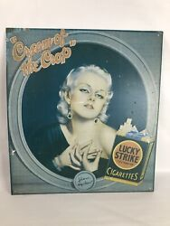 Vintage Jean Harlow Cream Of The Crop Lucky Strike Cigarettestin Ad Sign
