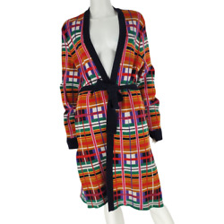 Anthropologie Moth Williston Plaid Multicolor Belted Long Duster Cardigan