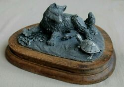 1977 Chilmark Fine Pewter 54 Fox Pup And Turtle