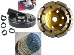7 Inch Vacuum Dust Shroud Cover Convertible Concrete Grinding Cup Polishing Pad