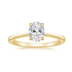 0.80 Ct Real Stunning Diamond Engagement Ring Solid 14k Yellow Gold Size 7 8 9