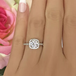 Natural 1.10 Ct Diamond Wedding Ring For Ladies Solid 14k White Gold Size 8 9 10