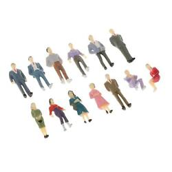 13pcs 150 Scale O Gauge Hand Painted Layout Model Train People Figures