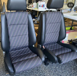 Bmw E30 325i M3 Sport Seat Kit /stand Rear M Tech Centers Leather Upholstery New