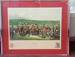 Vintage Engraving The Golfers St. Andrews 1847 Hand Colored Made In France