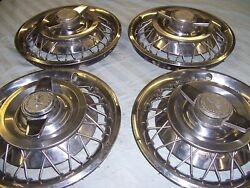 One Setandnbsp4andnbsp 1961-62-63-64 Chevrolet 14 Wire Wheel Covers Previously Owned