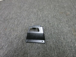 67 68 Mustang Shelby Fastback Fold Down Seat Latch Cover Plate Driver Side
