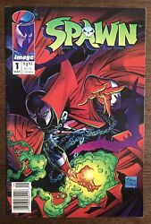 Spawn 1 1992 Image Comic Book - Newsstand Variant - Poster Intact