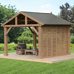 12and039 Pavilion Privacy Wallgazebo Not Included