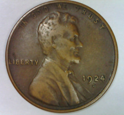 1924 D Lincoln Cent Very Fine+ Quality High Grade Key Denver Wheat Penny S 4