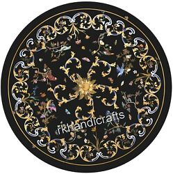 Round Shape Dining Table Top Beautiful Design Inlay Marble Restaurant Table Top