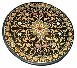 Yellow Stone Floral Pattern Dining Table Top Luxurious Marble Restaurant Table