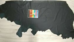 SALE 2 3 oz BLACK LEATHER COWHIDE FULL HIDE AUTOMOTIVE HOME UPHOLSTERY SOFT $99.99