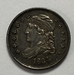 1834 Capped Bust Half Dime -- Almost Uncirculated