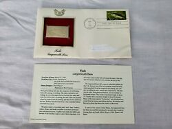 Golden Replicas Stamp Us Stamps Postal Comm. Society Fish Largemouth Bass 1986