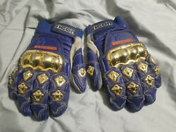 Rare Icon 24kt Gold Plated Race Gloves Tmaxx Motorcycle Riding Gloves