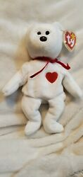 Rare Ty Beanie Baby Valentino 1994 W/ Tag Errors, Brown Nose, Pe Pellets Nwt