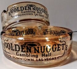 2 Vintage Downtown Las Vegas Ashtrays From The Golden Nugget Hotel-casino.