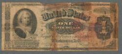 1886 United States 1 One Silver Dollar Certificate Large Size Note / Bill S512